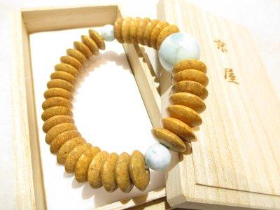 画像3: 京都・パワーストーン/【高級天然木】【天竺菩提樹】《釈迦の悟り》【ラリマー(ブルー・ペクトライト)】18mm そろばん数珠型(Lサイズ)ブレスレット、オリジナル桐箱付き【伏見の京屋】
