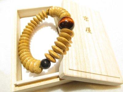 画像3: 京都・パワーストーン/【高級天然木】【天竺菩提樹】《釈迦の悟り》【タイガーアイ(三色)】18mm そろばん数珠型(Lサイズ)ブレスレット、オリジナル桐箱付き【伏見の京屋】