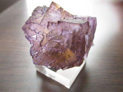 画像2: パワーストーン・京都/【稀少】《鉱物マニア必見》【結晶石】【高品質】【パープルフローライト】《メキシコ産》【原石、置物】47mm、102g、アクリル台付【天然石の京屋】