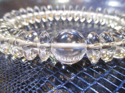 画像2: パワーストーン・京都/【最高品質5A(透明度・加工)】【そろばん珠本水晶】大玉14mm、数珠型ブレスレット【天然石の京屋】