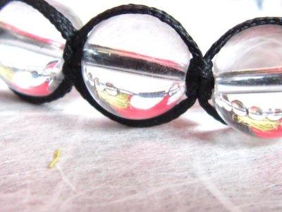 画像1: ◆綺麗に魅せる!レディース紐編みブレスレット!本水晶(クリスタル)10mm/健康、浄化力創造力や洞察力、霊的能力、超能力【伏見の京屋】