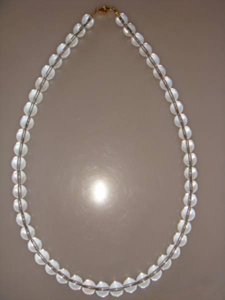 画像1: ◆◇水晶 クリスタル ネックレス 10mm 天然石◇◆ (1)