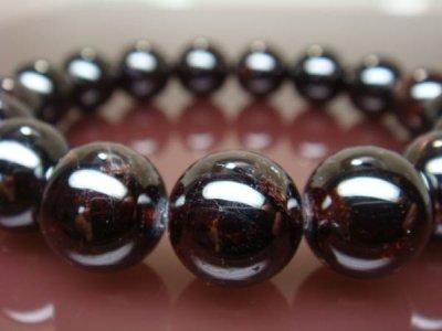 画像1: 1月の誕生石 ガーネット12mm 数珠ブレス パワーストーン
