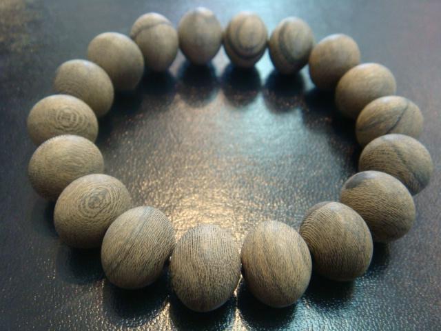 画像1: 京都・パワーストーン/【天然木】シャム柿、みかん玉15,5mmブレスレット【伏見の京屋】