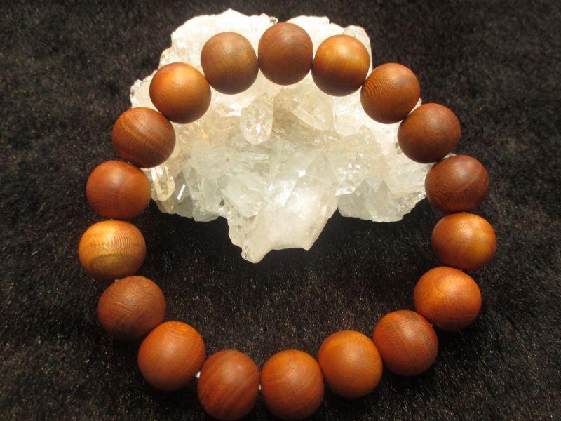 画像1: 京都・パワーストーン/【激安】【正梅(しょううめ)】高級天然木13mm 数珠ブレスレット【伏見の京屋】