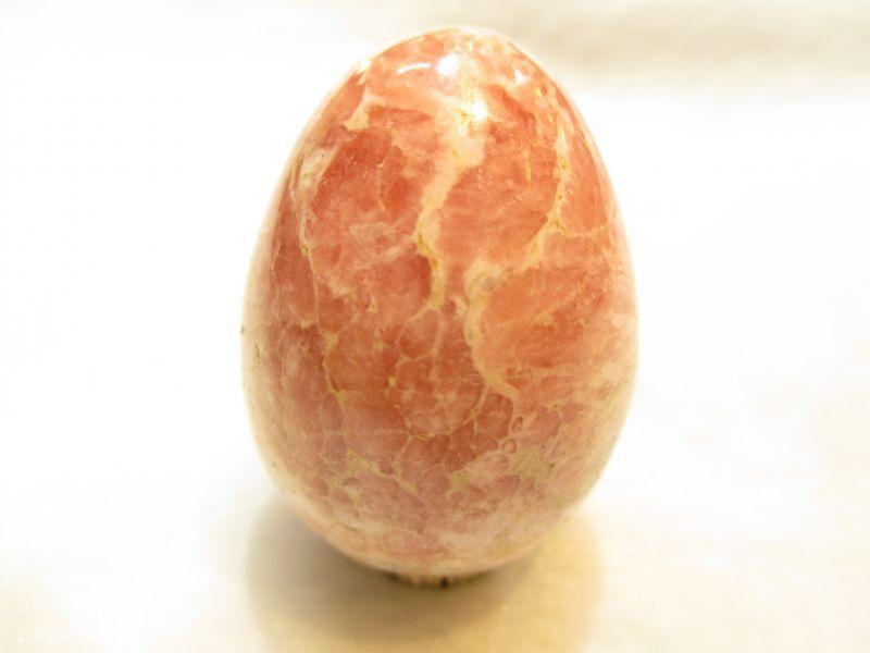 画像1: パワーストーン・京都/【究極愛の石】【卵型(エッグ型)】【置物】インカローズ(ロードクロサイト)、63g 41mm【伏見の京屋】