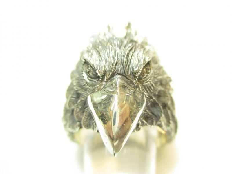 画像1: 京都・パワーストーン/【銀風(GINPU) 】《和風アクセサリー》【天鷹(てんたか)】【リング】【SILVER925】【ダイヤモンド(0.02ct)】26mm、20号、高級桐箱付