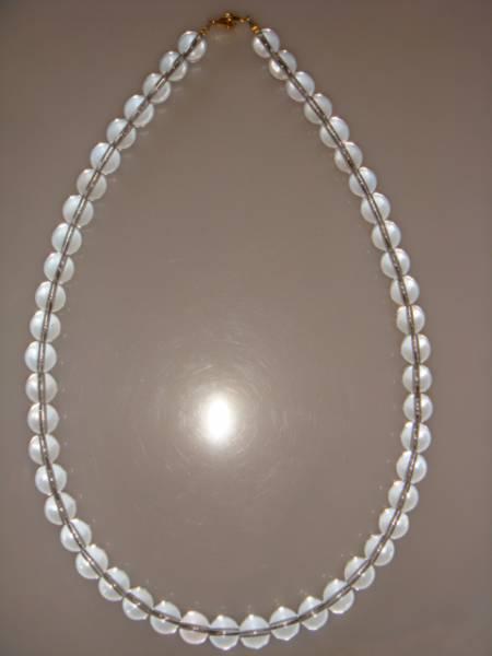 画像1: ◆◇水晶 クリスタル ネックレス 10mm 天然石◇◆